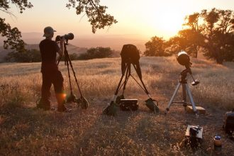 sunset being photographed