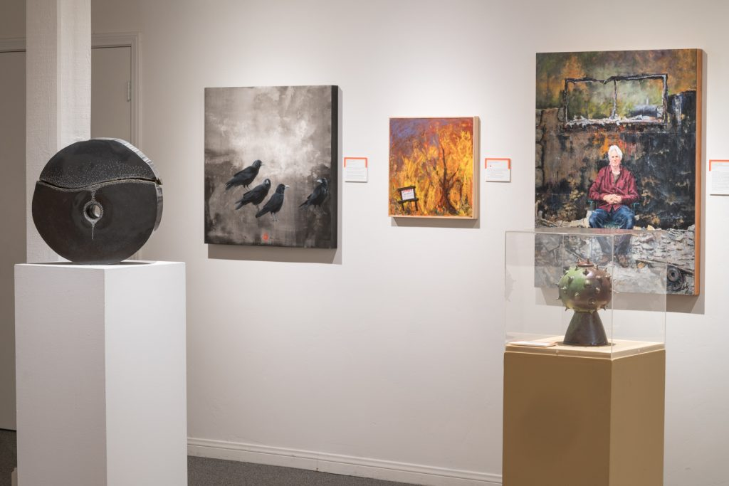 "Ojai Studio Artists exhibition, ""Scorched Souls,"" at the Ojai Valley Museum during Spring 2018."